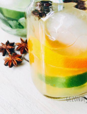 Fruitwater met sinaasappel
