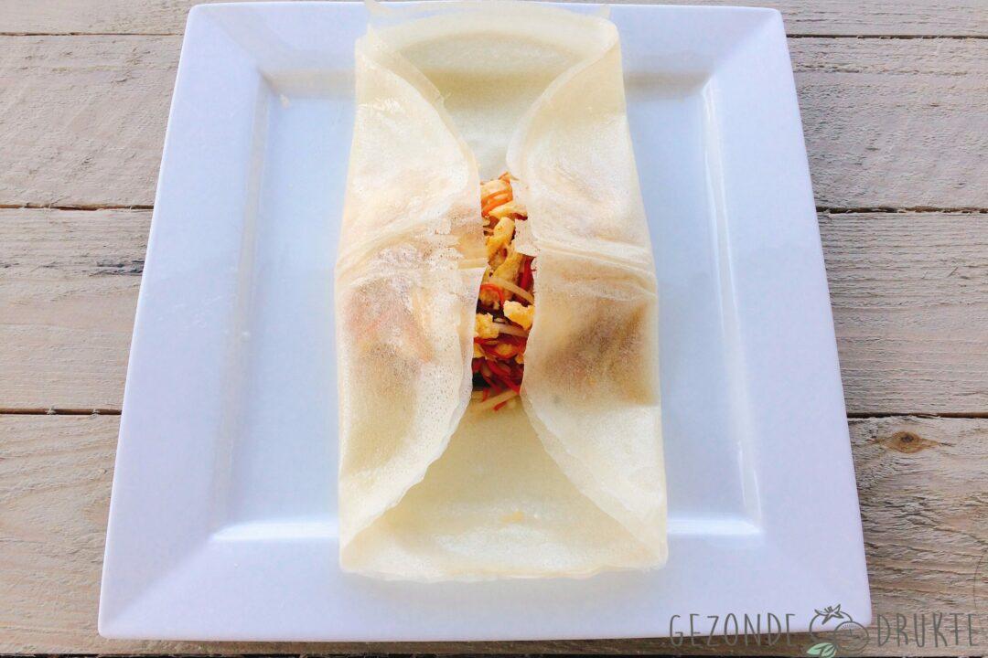 loempia's in een gezonder jasje met zachte appel-curry saus