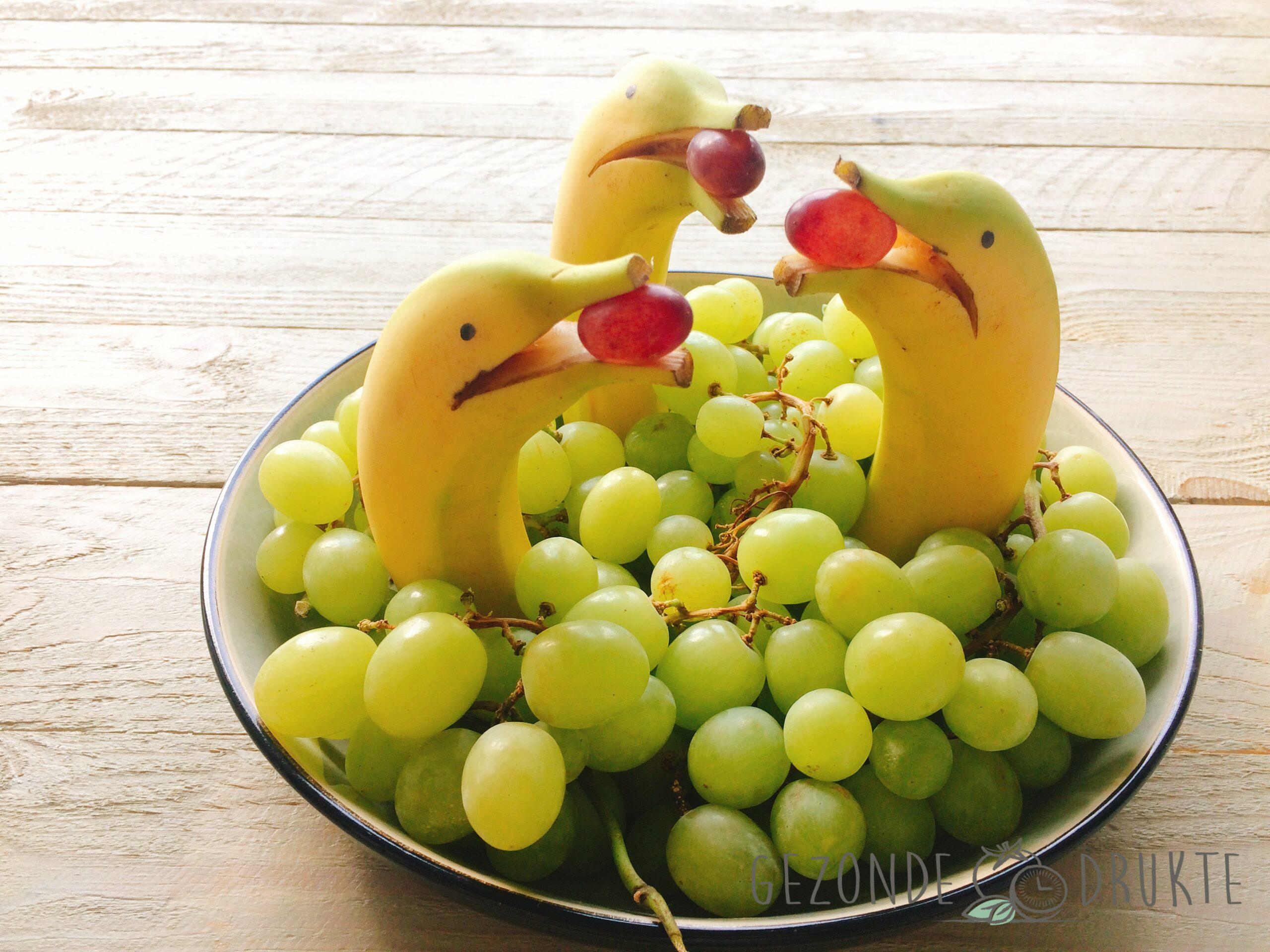 Dolfijnen in een zee van druiven