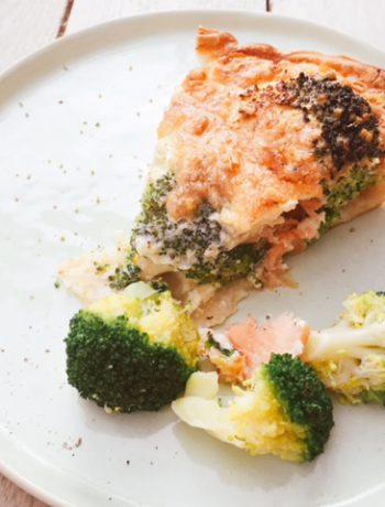 broccoli-zalm quiche