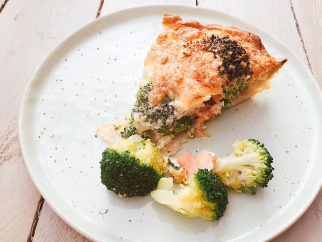 broccoli-zalm quiche