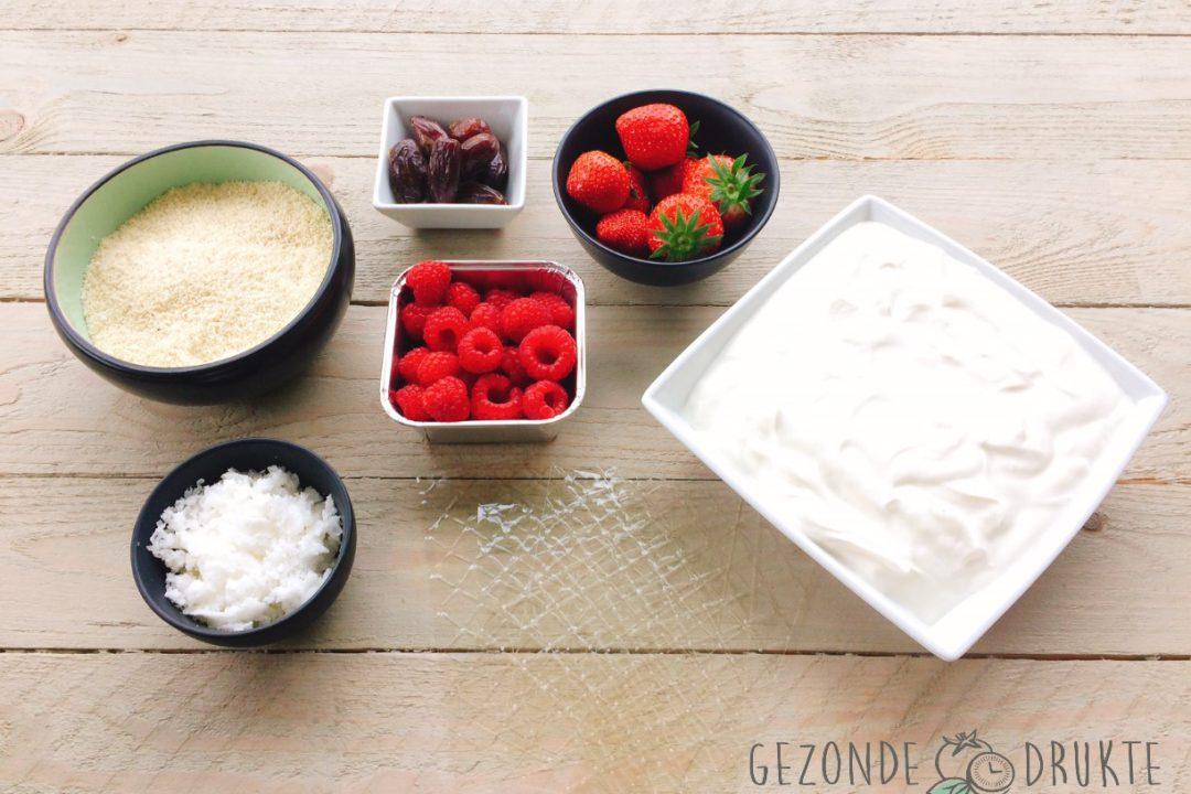 Aardbeien-frambozen kwartaart gezonde drukte gezond