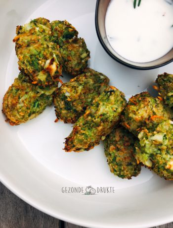 Broccoli nuggets met dipsaus gezonde drukte gezond