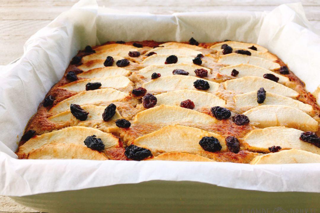 appelplaatcake met rozijnen gezonde drukte gezond
