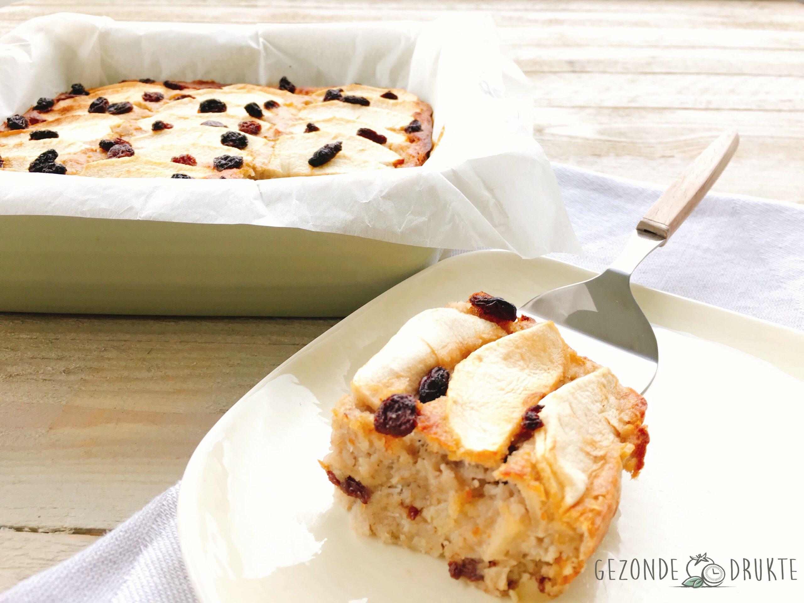 appelplaatcake met rozijnen
