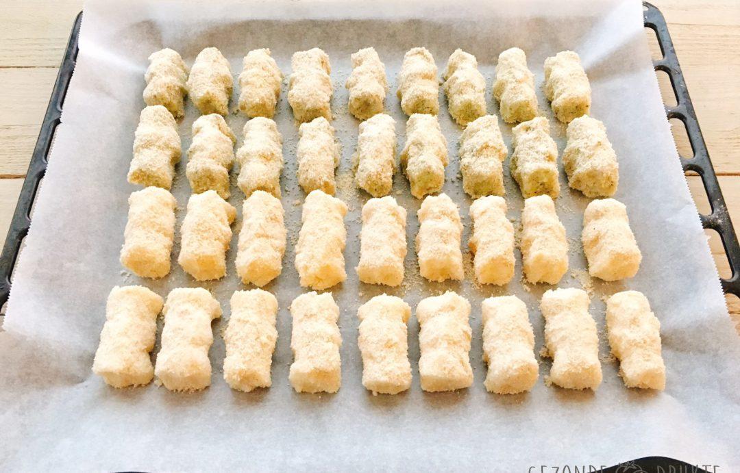 Broccoli- en aardappelkroketten gezonde drukte feest zelfgemaakte kroketten