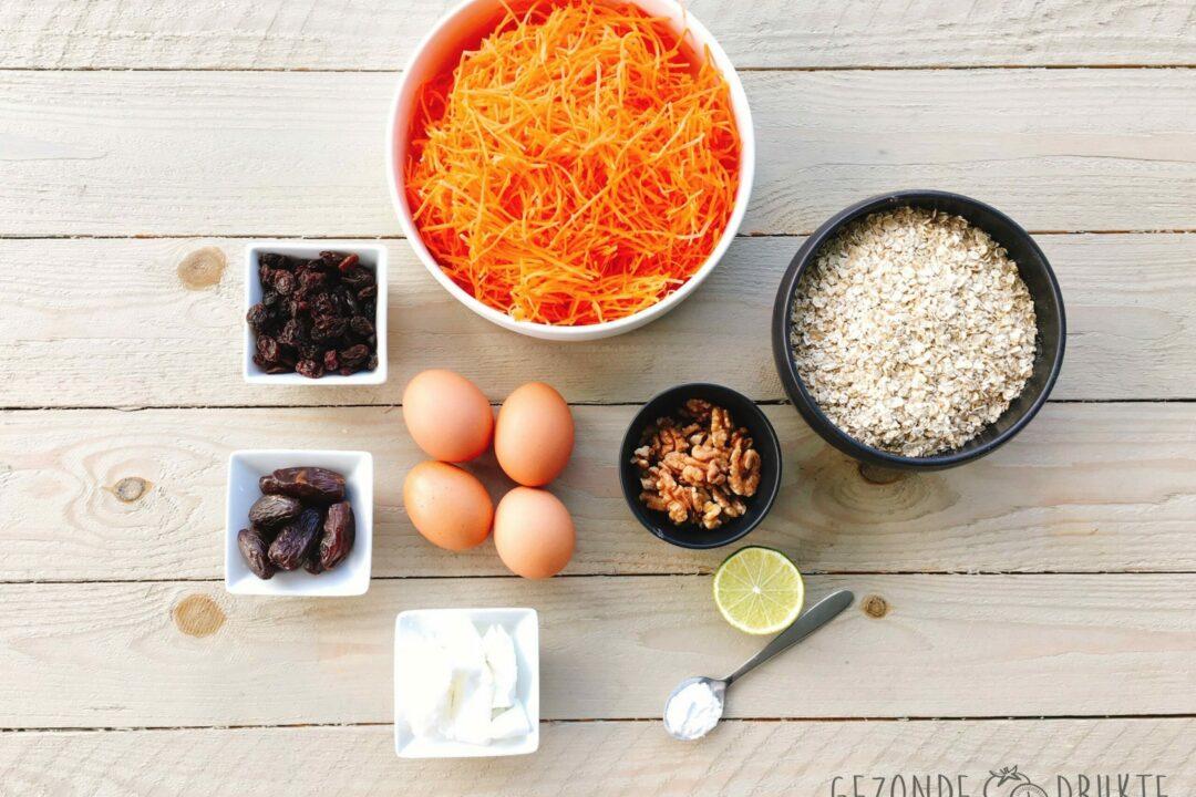 Wortelcake gezonde drukte gezond worteltaart
