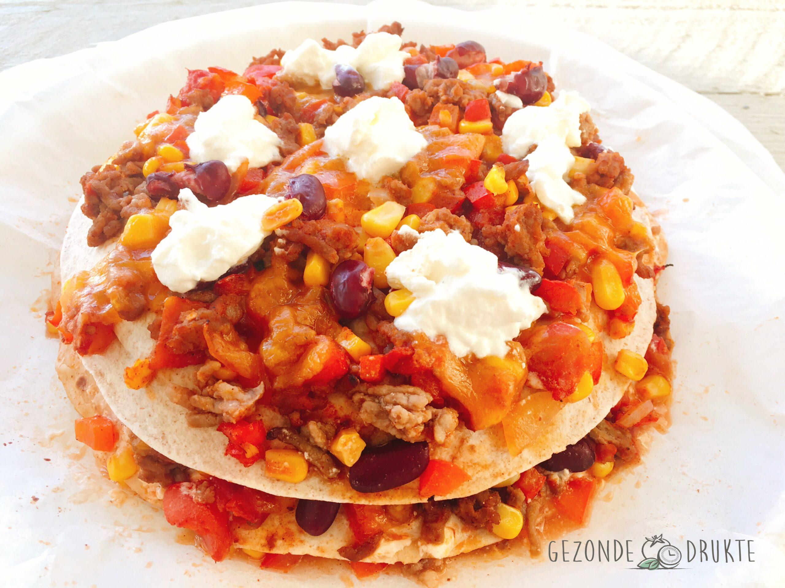 Tortillataart uit Mexico gezonde drukte Mexicaans