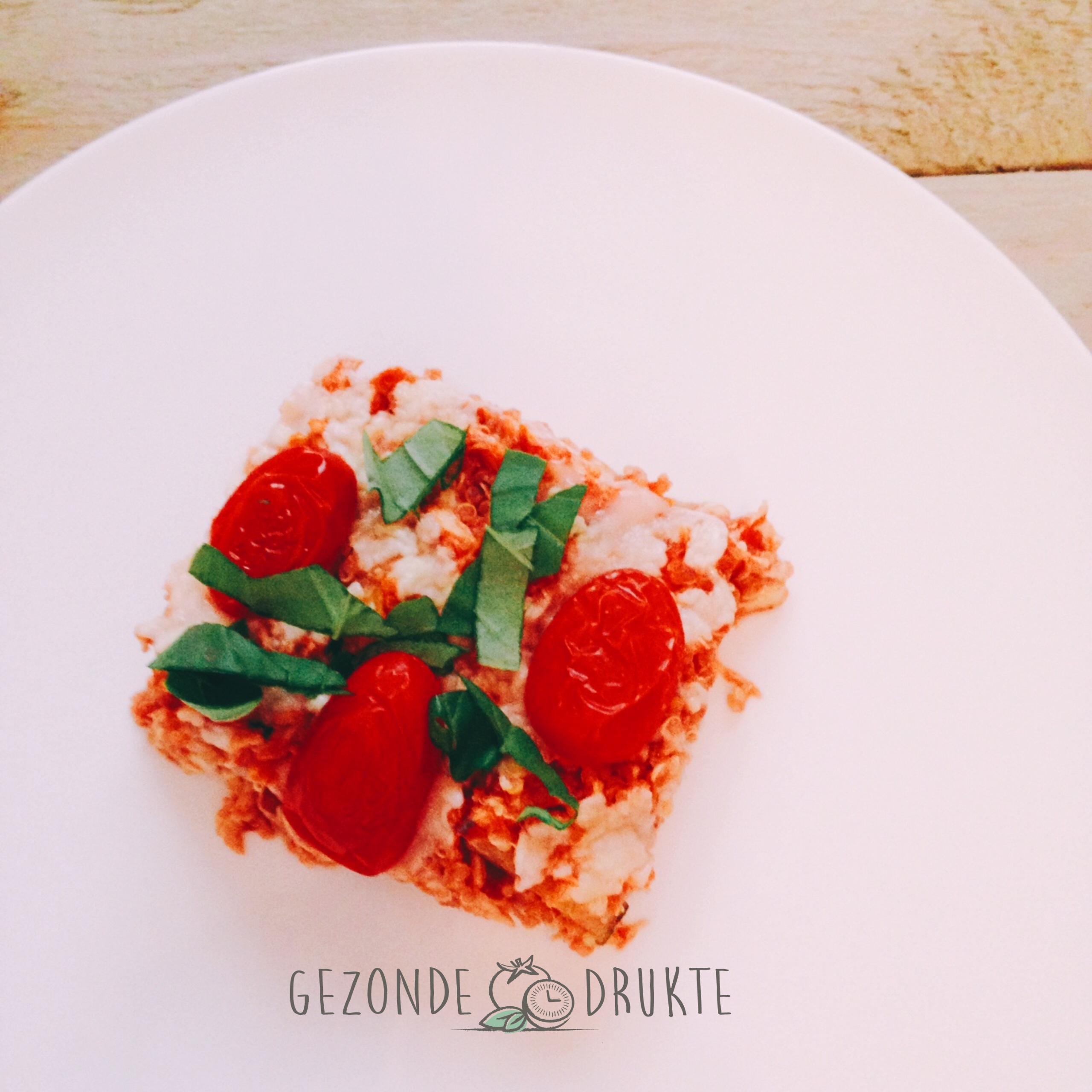 Kipschotel caprese met tomaten, courgettes en quinoa Gezonde Drukte