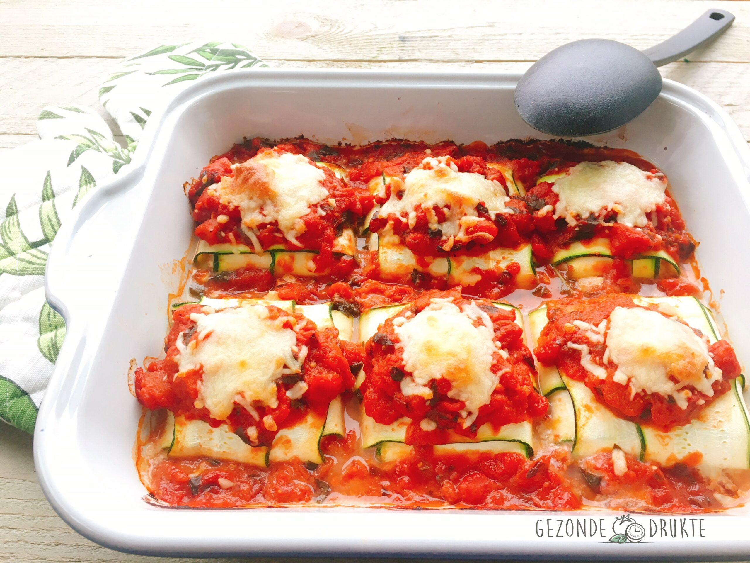 Courgette ravioli met tomatensaus gezonde drukte gezond
