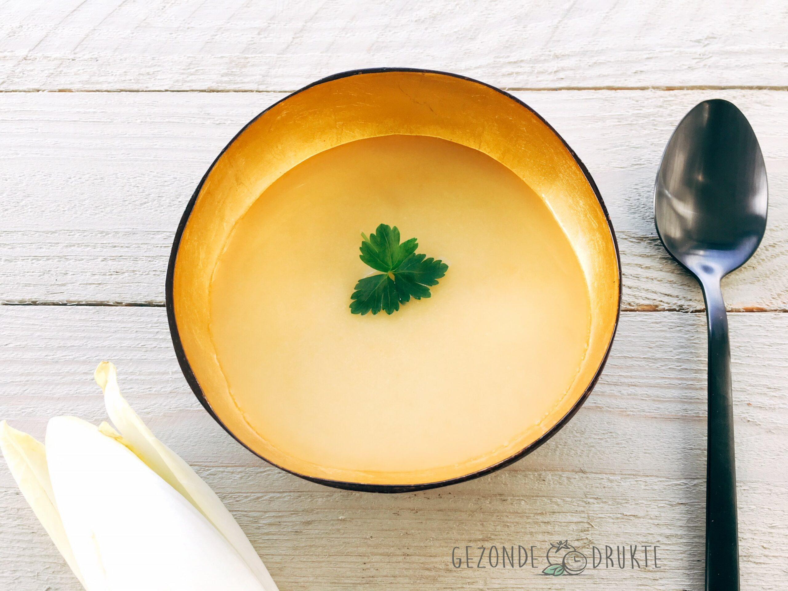 witloofsoep zonder bittere smaak gezonde drukte gezond