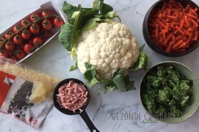 macaroni met spinazie gezond Gezonde Drukte