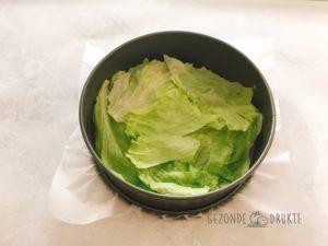 Saladetaart met dressing Gezonde Drukte gezond