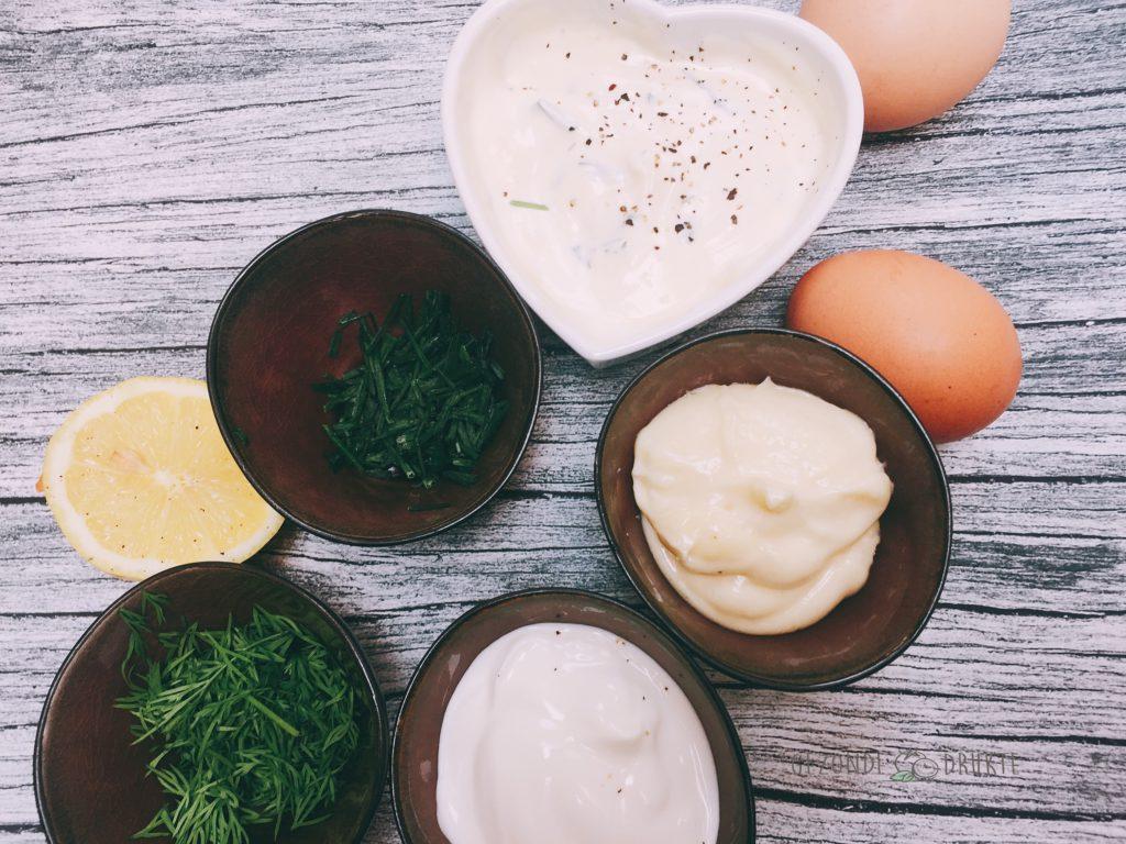Huisgemaakte mayo gezonde drukte