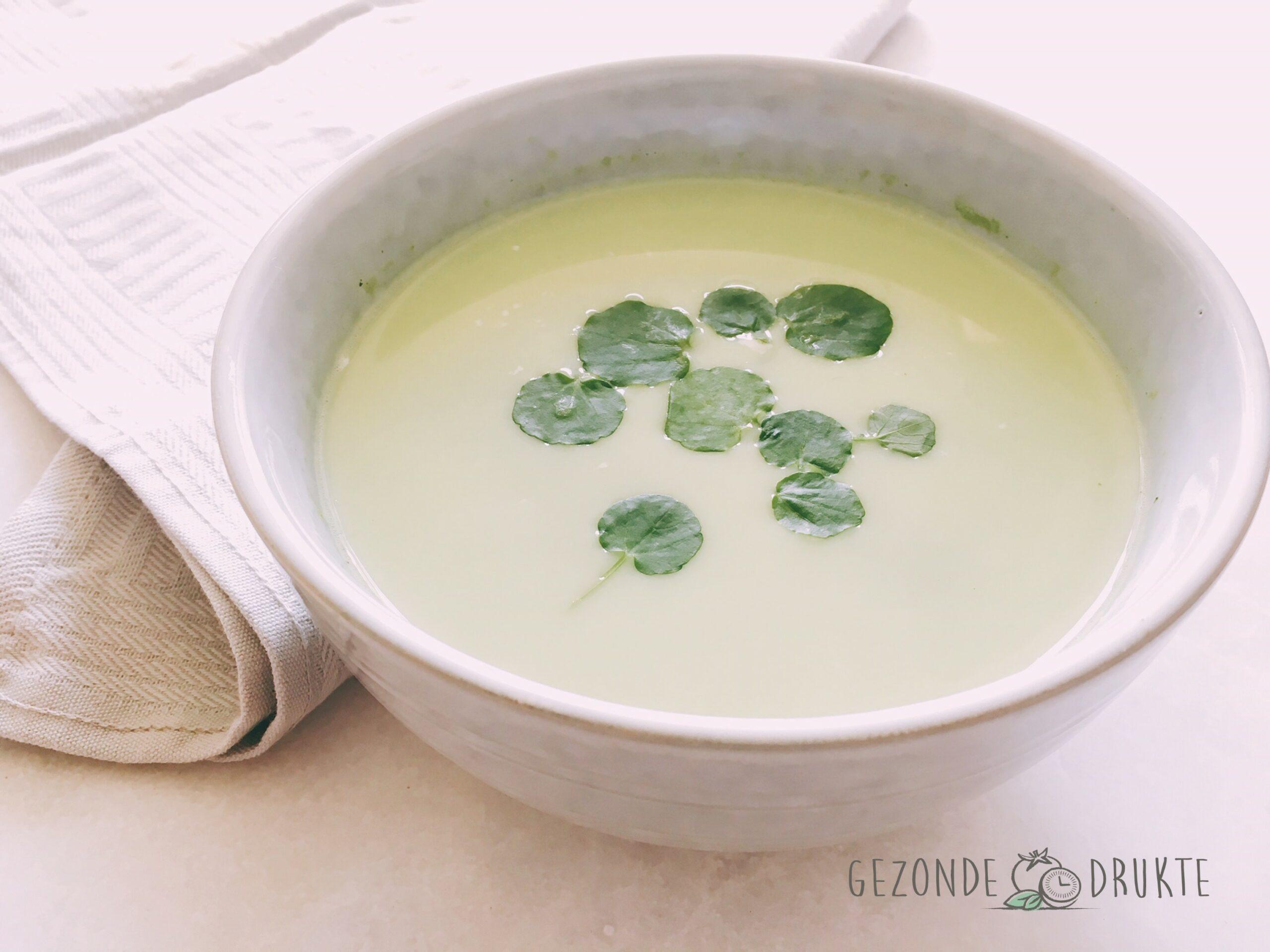 Waterker soep lente gezonde drukte gezond